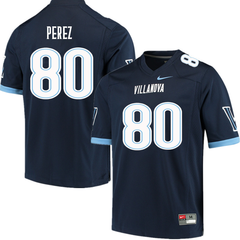 Men #80 Andrew Perez Villanova Wildcats College Football Jerseys Sale-Navy