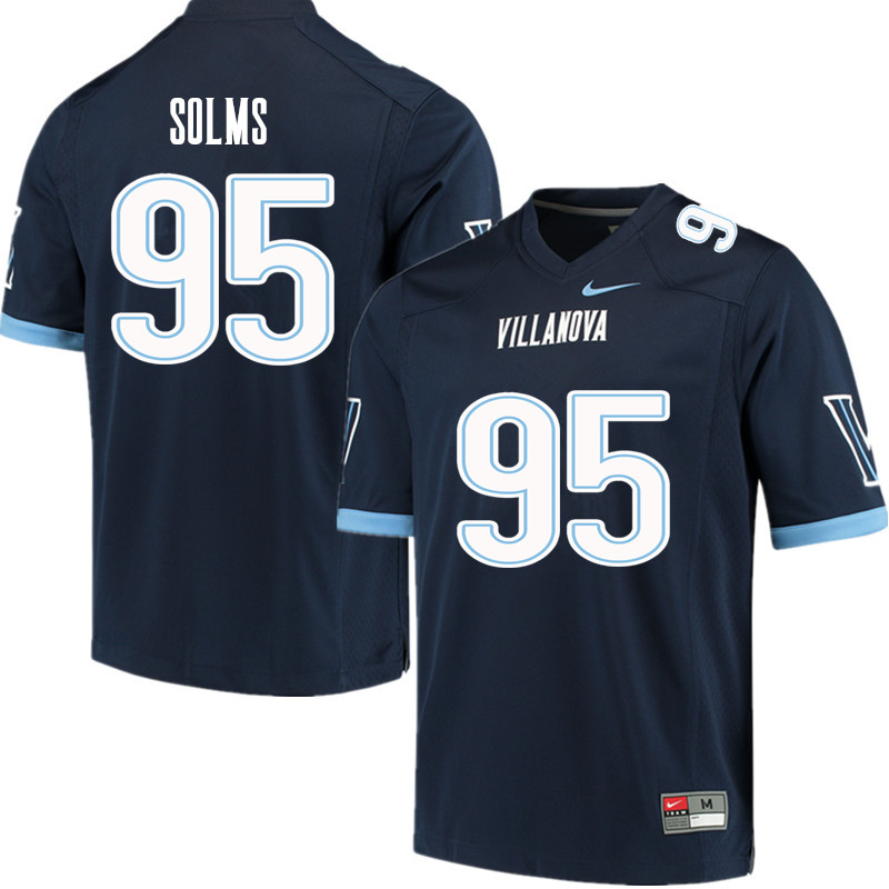 Men #95 Billy Solms Villanova Wildcats College Football Jerseys Sale-Navy
