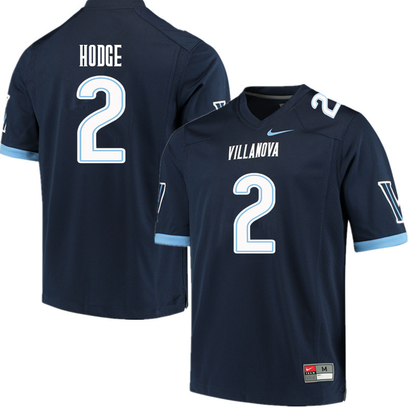 Men #2 Changa Hodge Villanova Wildcats College Football Jerseys Sale-Navy