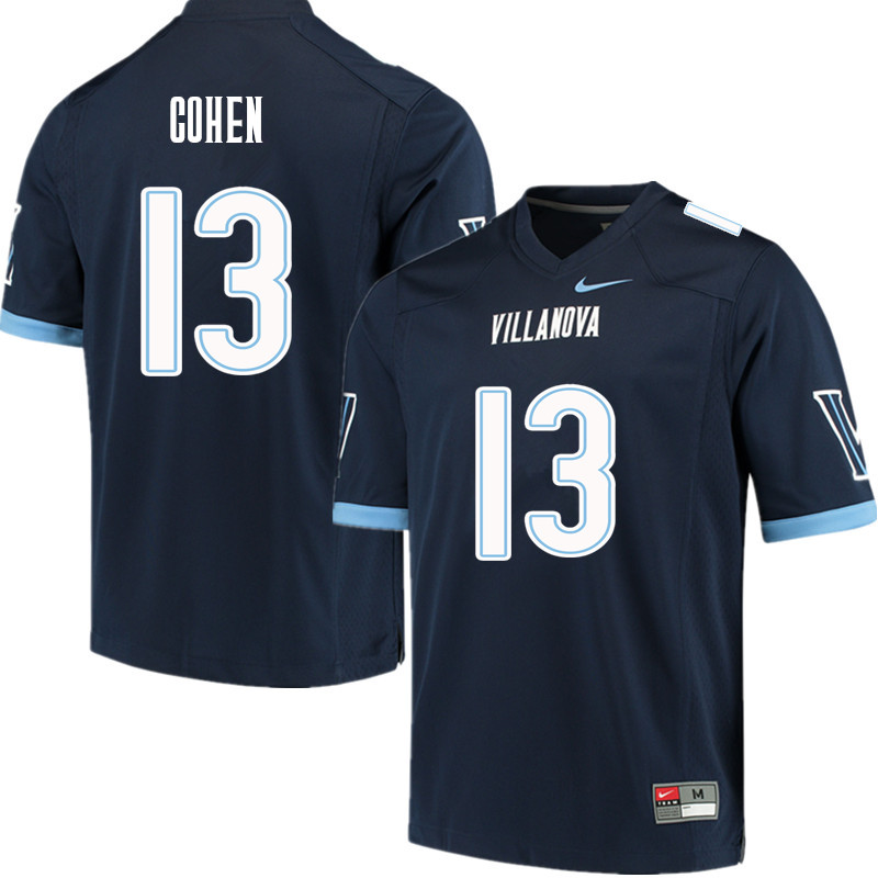 Men #13 Gabe Cohen Villanova Wildcats College Football Jerseys Sale-Navy