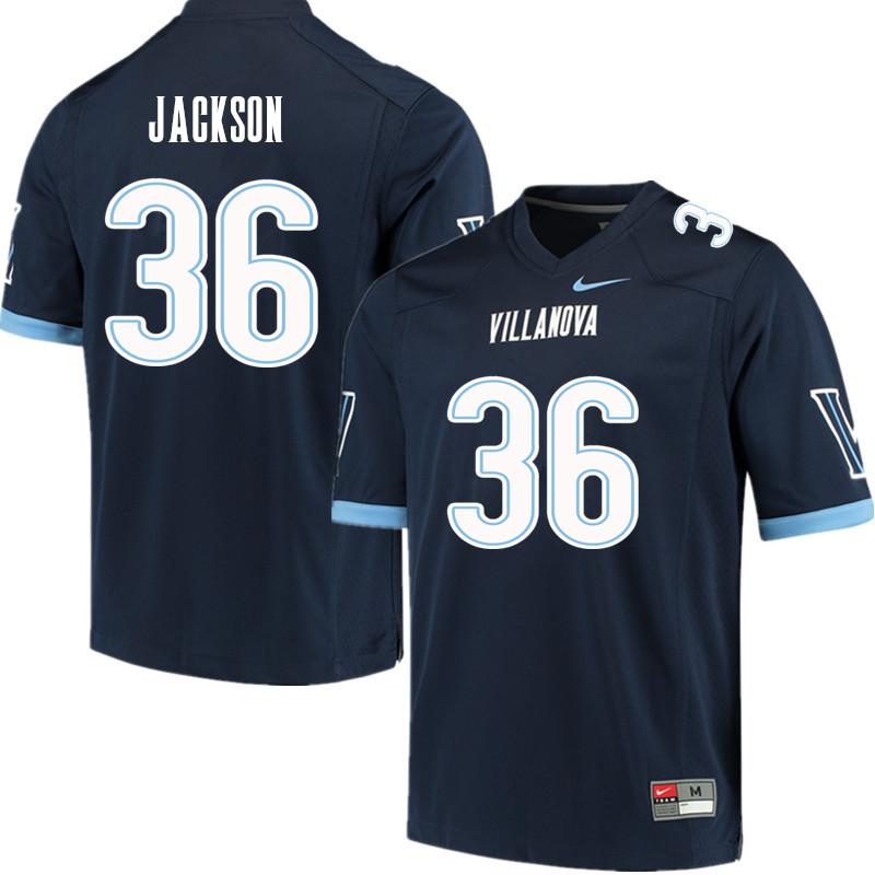 Men #36 Jalen Jackson Villanova Wildcats College Football Jerseys Sale-Navy