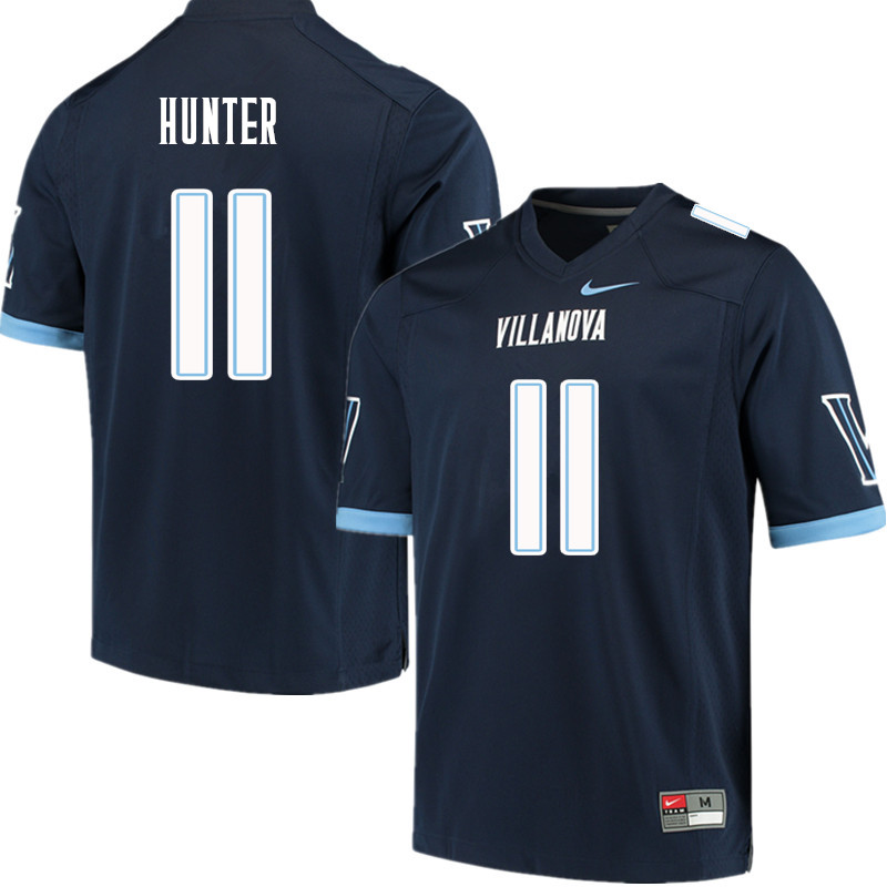 Men #11 Keeling Hunter Villanova Wildcats College Football Jerseys Sale-Navy