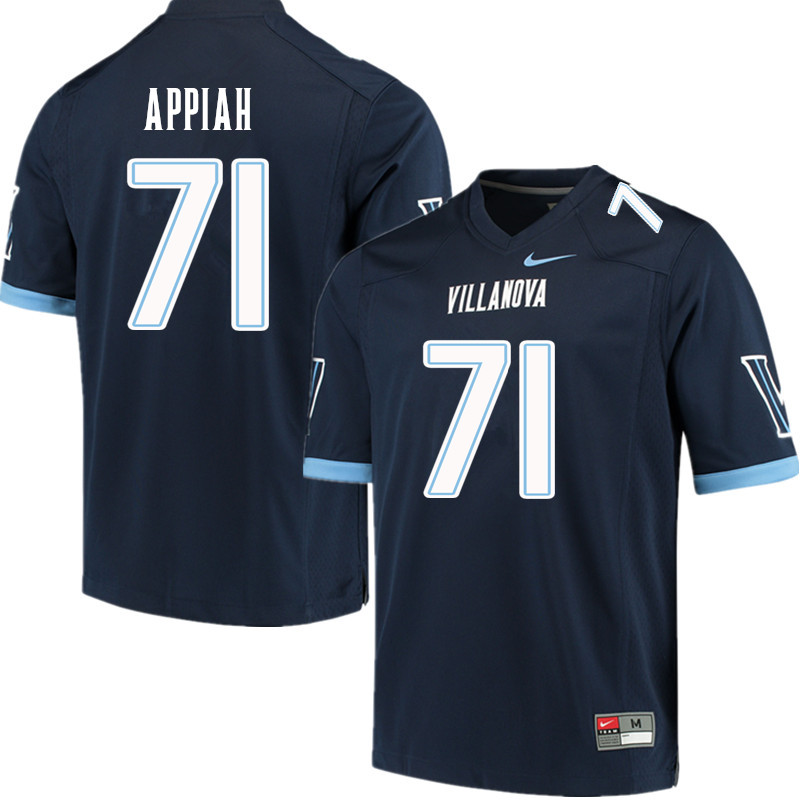 Men #71 Kofi Appiah Villanova Wildcats College Football Jerseys Sale-Navy