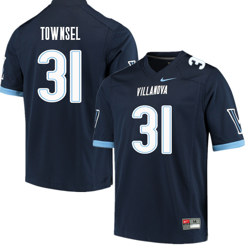 Men #31 Qwashin Townsel Villanova Wildcats College Football Jerseys Sale-Navy