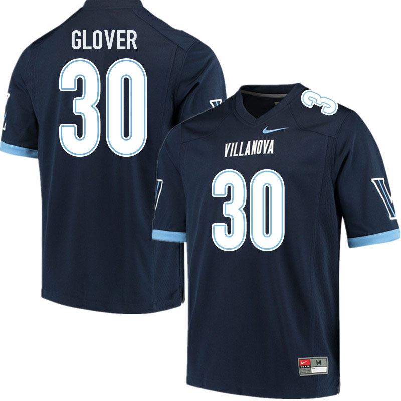 Men #30 Elijah Glover Villanova Wildcats College Football Jerseys Sale-Navy