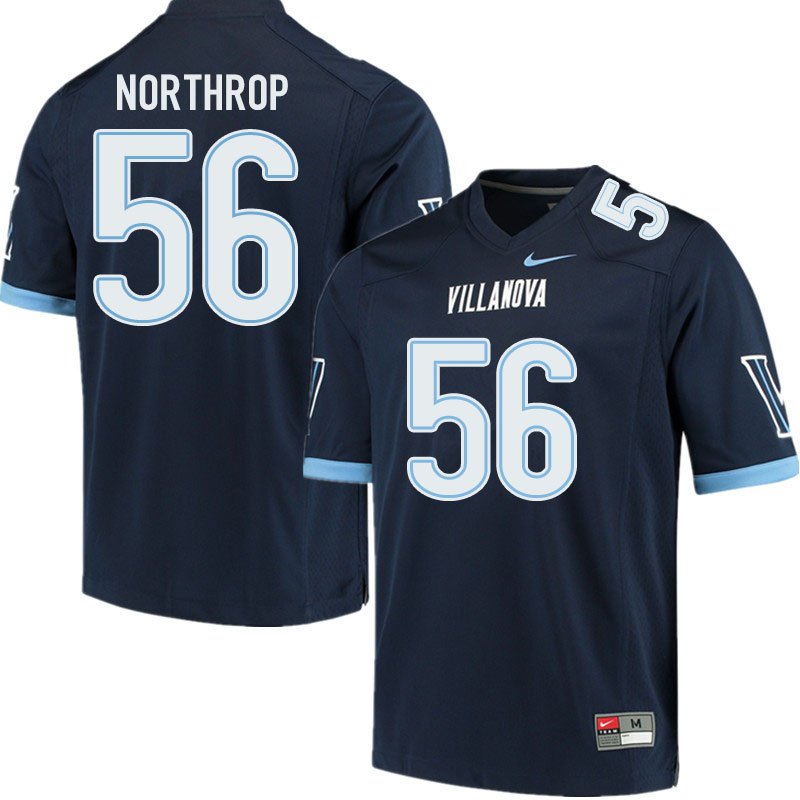 Men #56 Jake Northrop Villanova Wildcats College Football Jerseys Sale-Navy