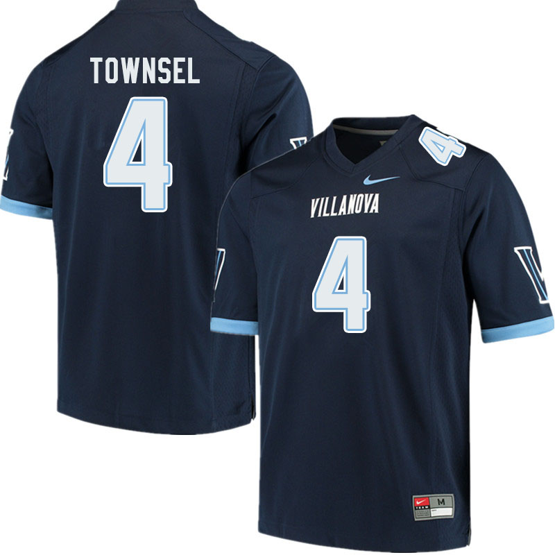 Men #4 Qwashin Townsel Villanova Wildcats College Football Jerseys Sale-Navy