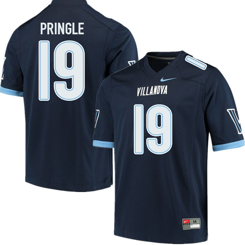 Men #19 Rayjoun Pringle Villanova Wildcats College Football Jerseys Sale-Navy