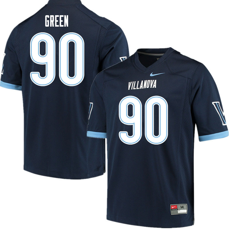 Men #90 Jake Green Villanova Wildcats College Football Jerseys Sale-Navy