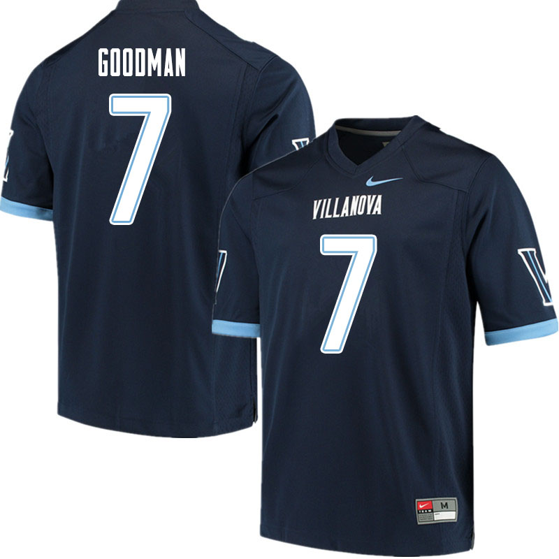 Men #7 Jalen Goodman Villanova Wildcats College Football Jerseys Sale-Navy