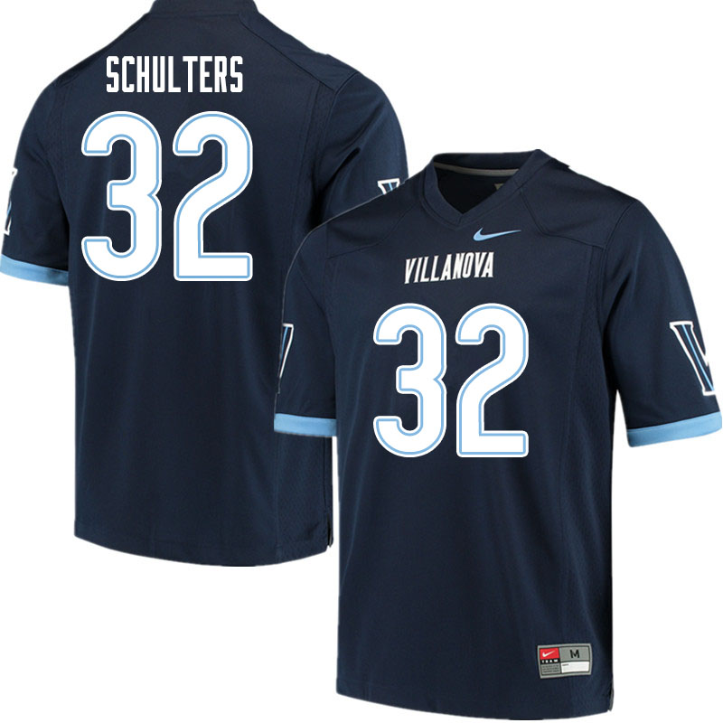 Men #32 Kshawn Schulters Villanova Wildcats College Football Jerseys Sale-Navy