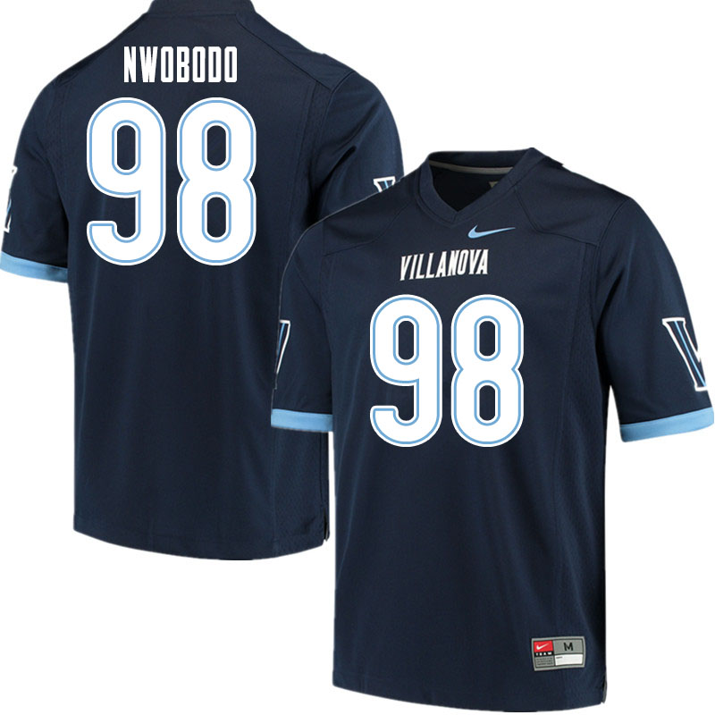 Men #98 Obinna Nwobodo Villanova Wildcats College Football Jerseys Sale-Navy