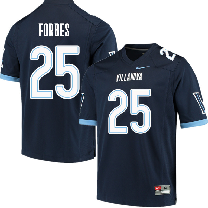 Men #25 Aaron Forbes Villanova Wildcats College Football Jerseys Sale-Navy