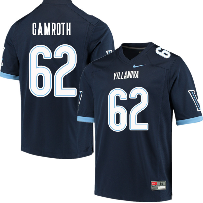 Men #62 Colin Gamroth Villanova Wildcats College Football Jerseys Sale-Navy