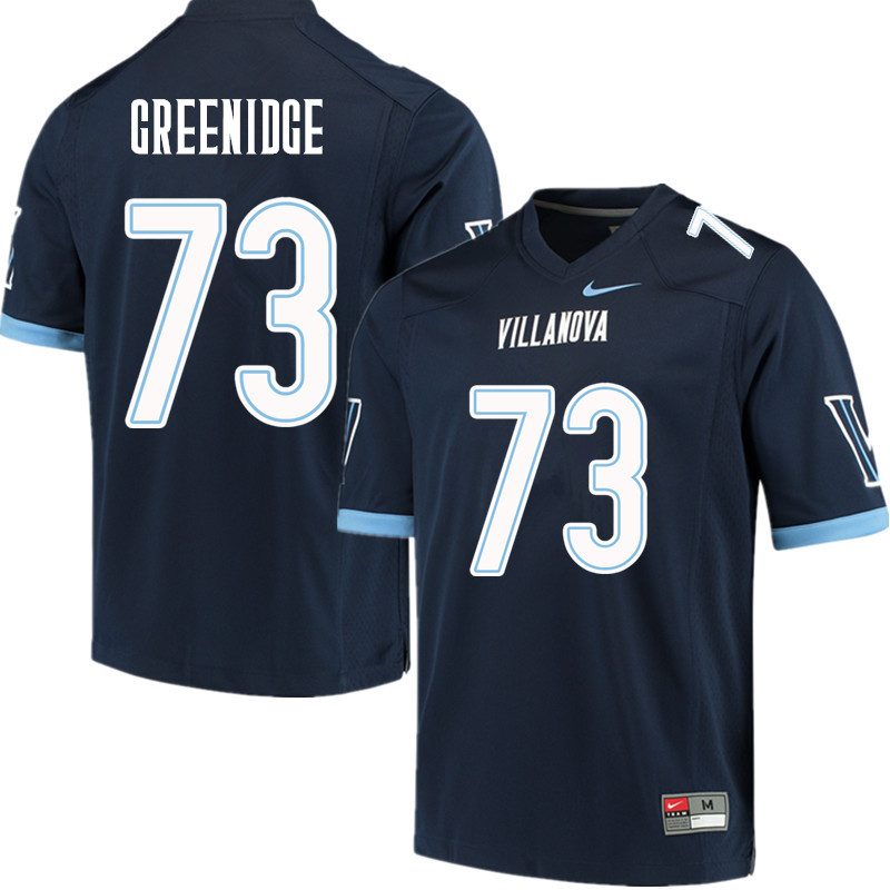 Men #73 Ethan Greenidge Villanova Wildcats College Football Jerseys Sale-Navy