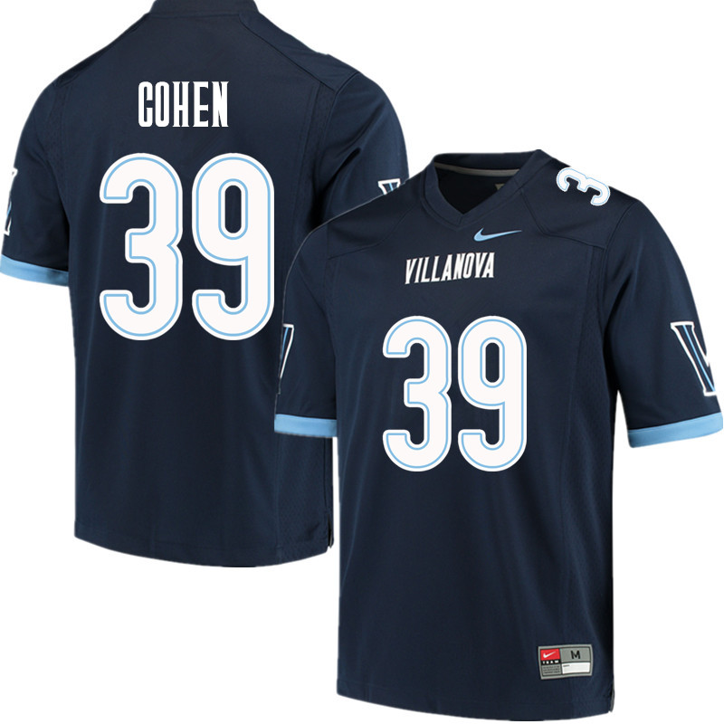 Men #39 Gabe Cohen Villanova Wildcats College Football Jerseys Sale-Navy