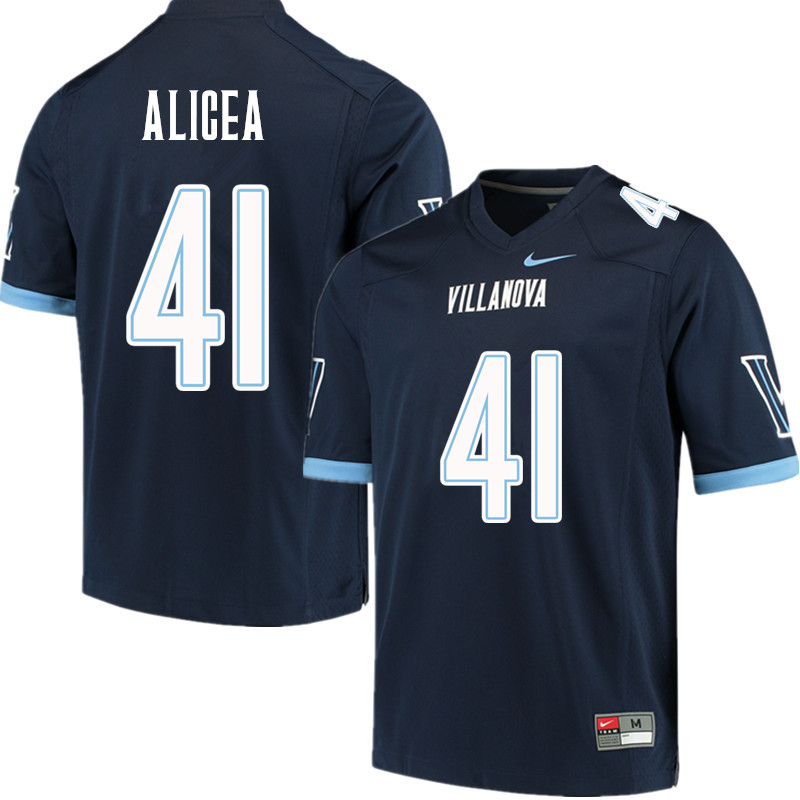 Men #41 Isaiah Alicea Villanova Wildcats College Football Jerseys Sale-Navy