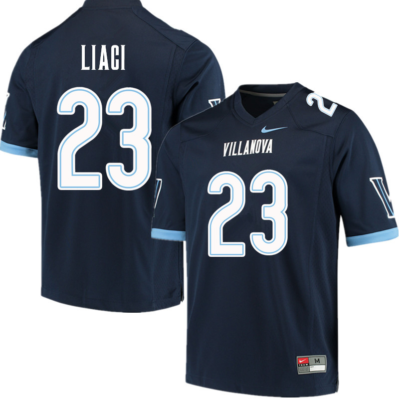 Men #23 Julian Liaci Villanova Wildcats College Football Jerseys Sale-Navy