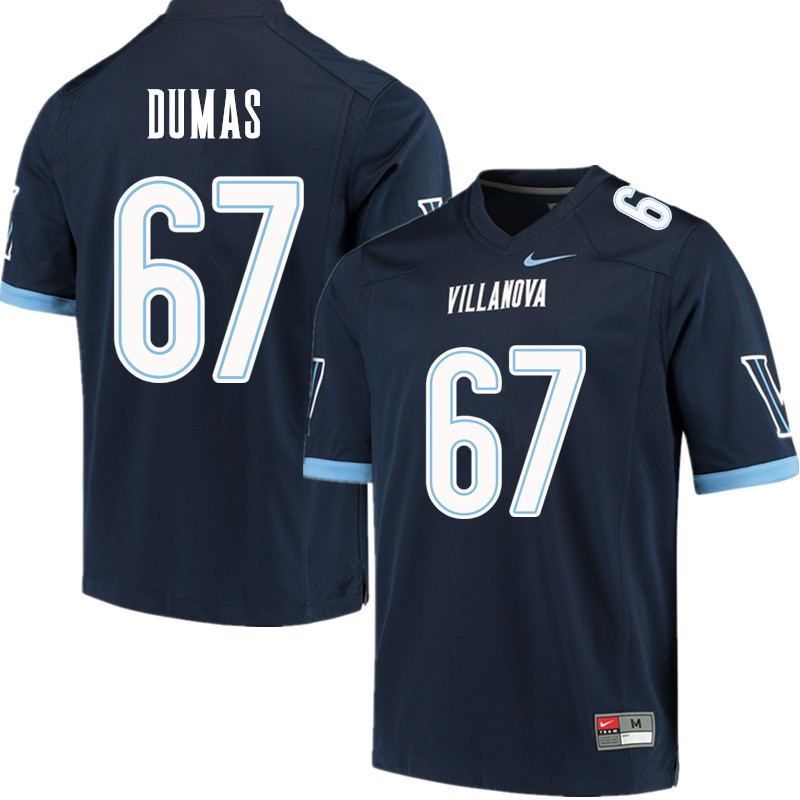 Men #67 MJ Dumas Villanova Wildcats College Football Jerseys Sale-Navy