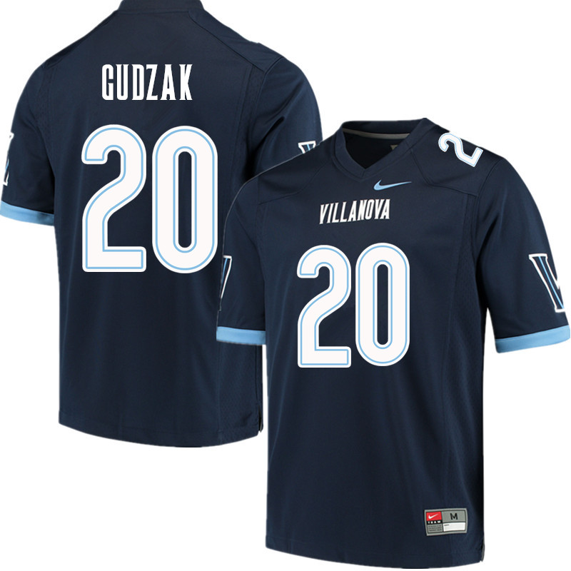 Men #20 Matt Gudzak Villanova Wildcats College Football Jerseys Sale-Navy