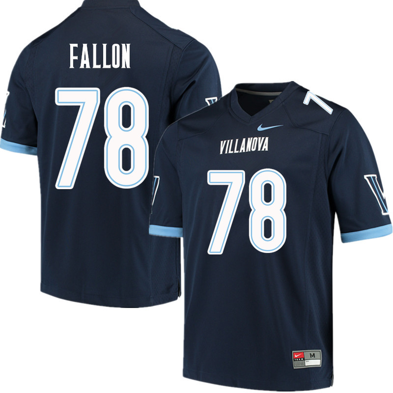 Men #78 Peter Fallon Villanova Wildcats College Football Jerseys Sale-Navy