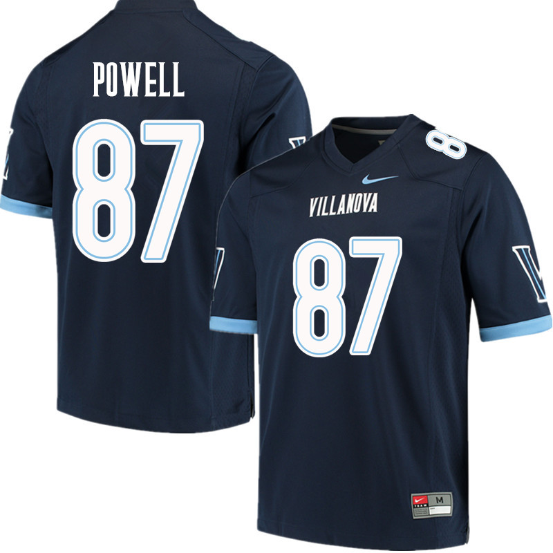Men #87 Tahj Powell Villanova Wildcats College Football Jerseys Sale-Navy