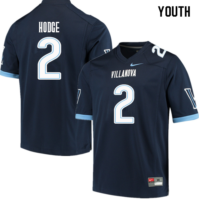 Youth #2 Changa Hodge Villanova Wildcats College Football Jerseys Sale-Navy