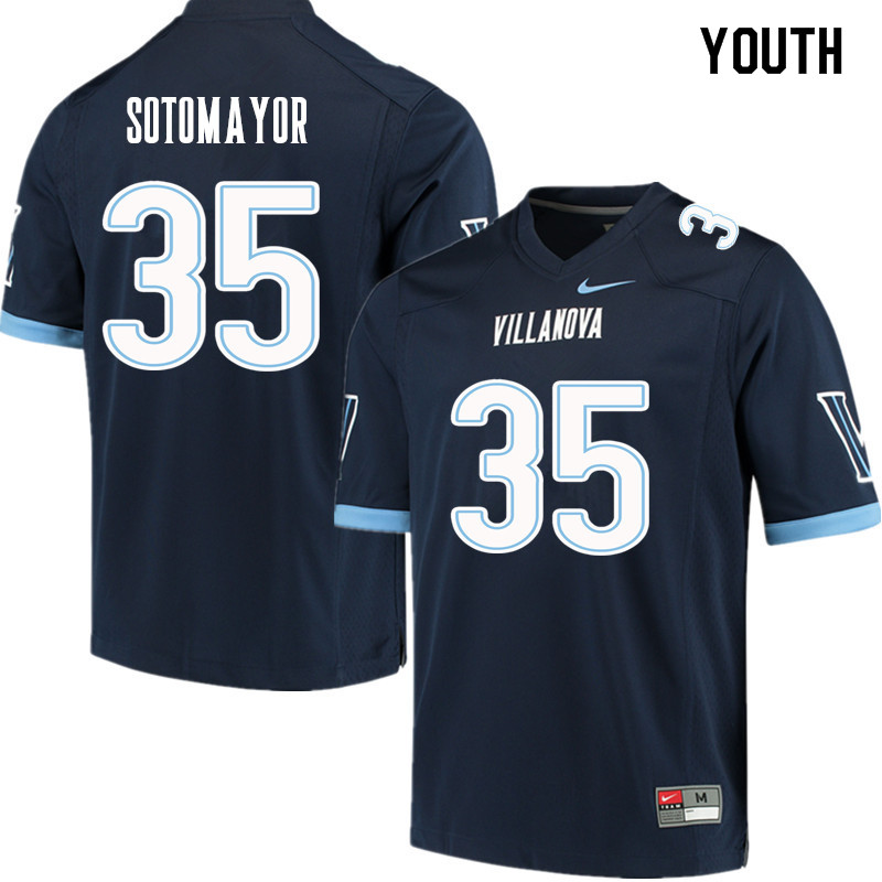 Youth #35 Joseph Sotomayor Villanova Wildcats College Football Jerseys Sale-Navy