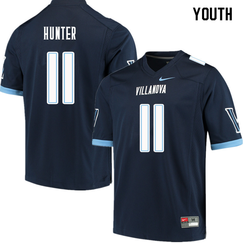 Youth #11 Keeling Hunter Villanova Wildcats College Football Jerseys Sale-Navy