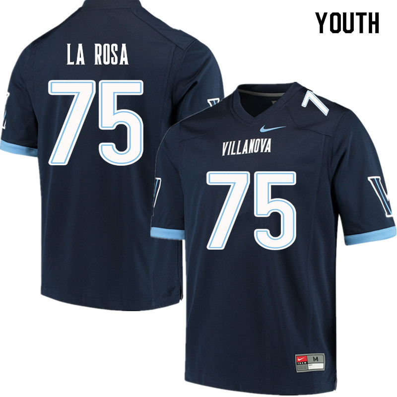 Youth #75 Patrick La Rosa Villanova Wildcats College Football Jerseys Sale-Navy
