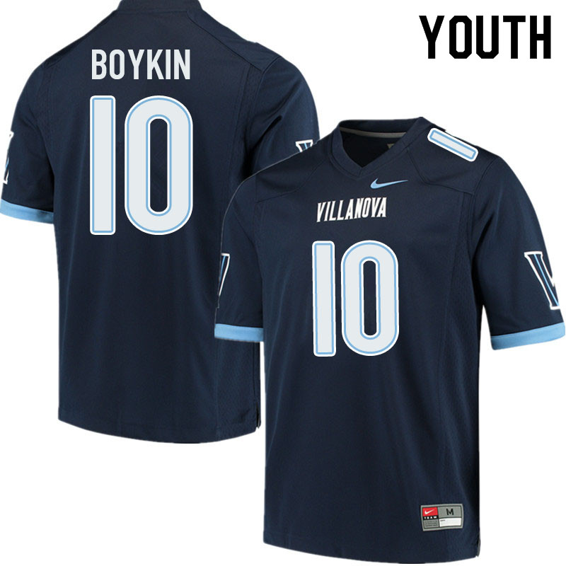 Youth #10 Dez Boykin Villanova Wildcats College Football Jerseys Sale-Navy