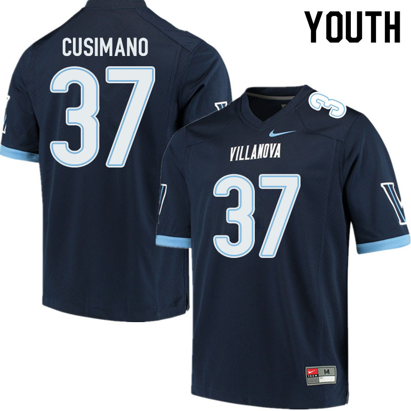 Youth #37 Hunter Cusimano Villanova Wildcats College Football Jerseys Sale-Navy