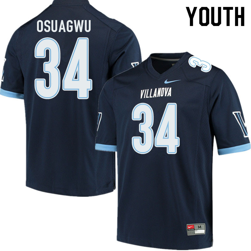Youth #34 Ike Osuagwu Villanova Wildcats College Football Jerseys Sale-Navy
