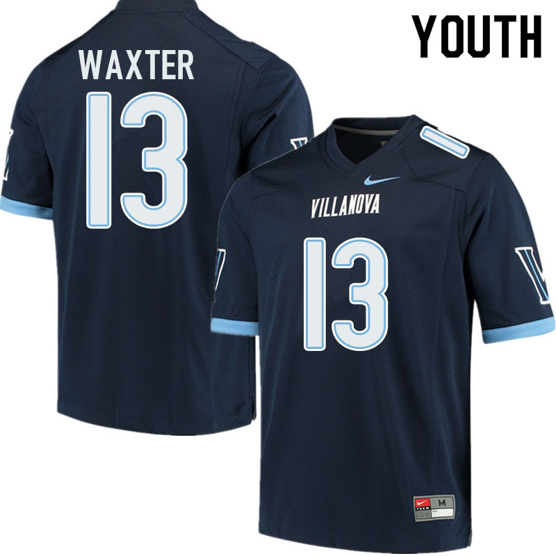 Youth #13 Isas Waxter Villanova Wildcats College Football Jerseys Sale-Navy