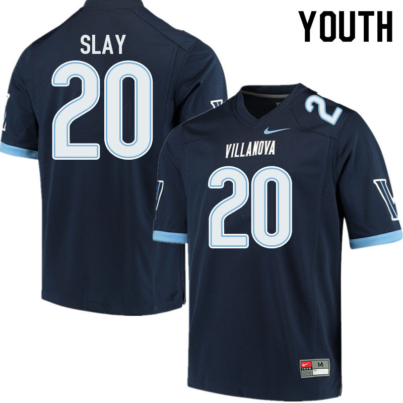 Youth #20 Josh Slay Villanova Wildcats College Football Jerseys Sale-Navy