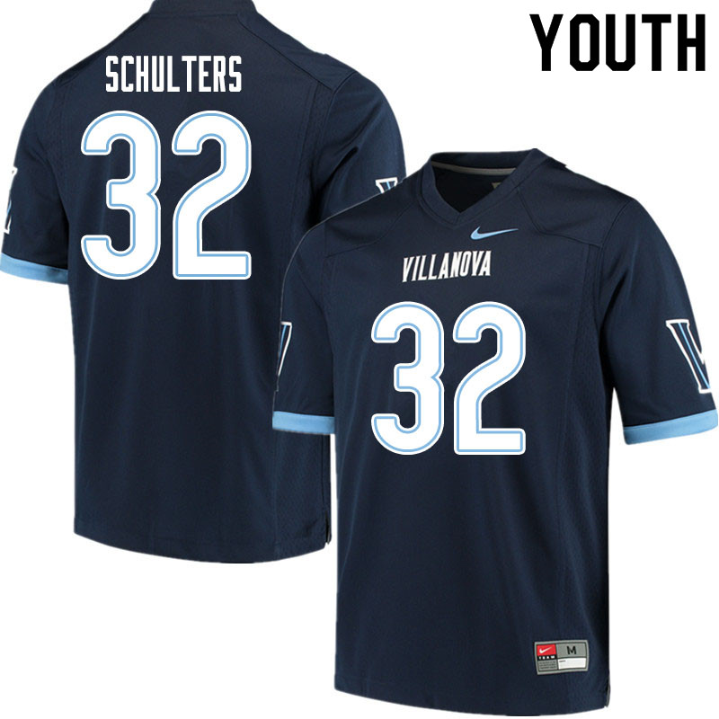 Youth #32 Kshawn Schulters Villanova Wildcats College Football Jerseys Sale-Navy