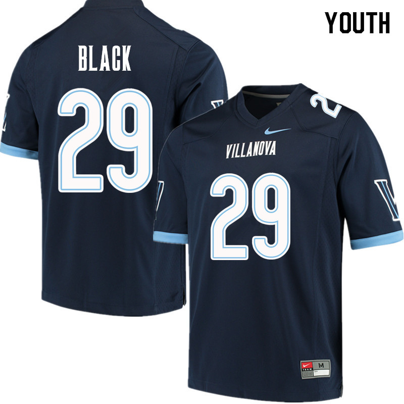Youth #29 Amin Black Villanova Wildcats College Football Jerseys Sale-Navy