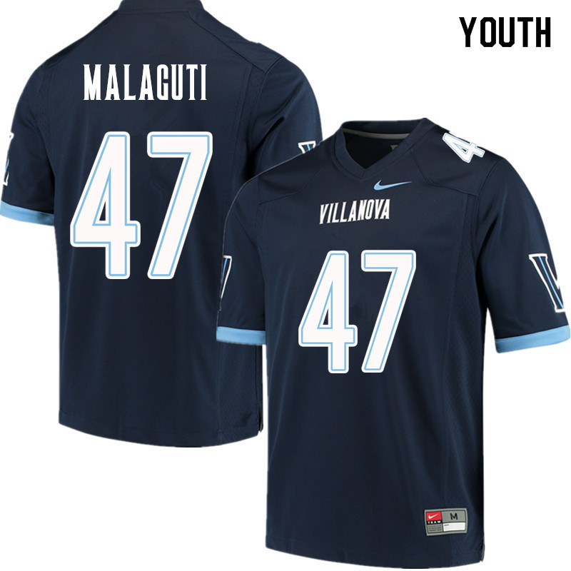 Youth #47 Anthony Malaguti Villanova Wildcats College Football Jerseys Sale-Navy