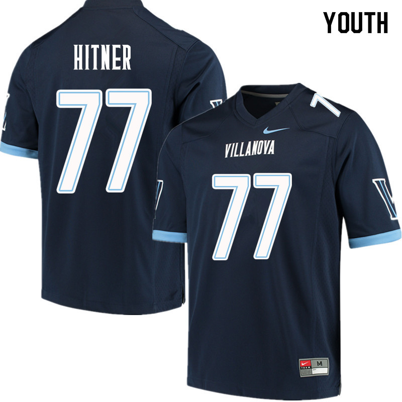 Youth #77 Brandon Hitner Villanova Wildcats College Football Jerseys Sale-Navy