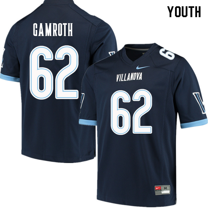 Youth #62 Colin Gamroth Villanova Wildcats College Football Jerseys Sale-Navy