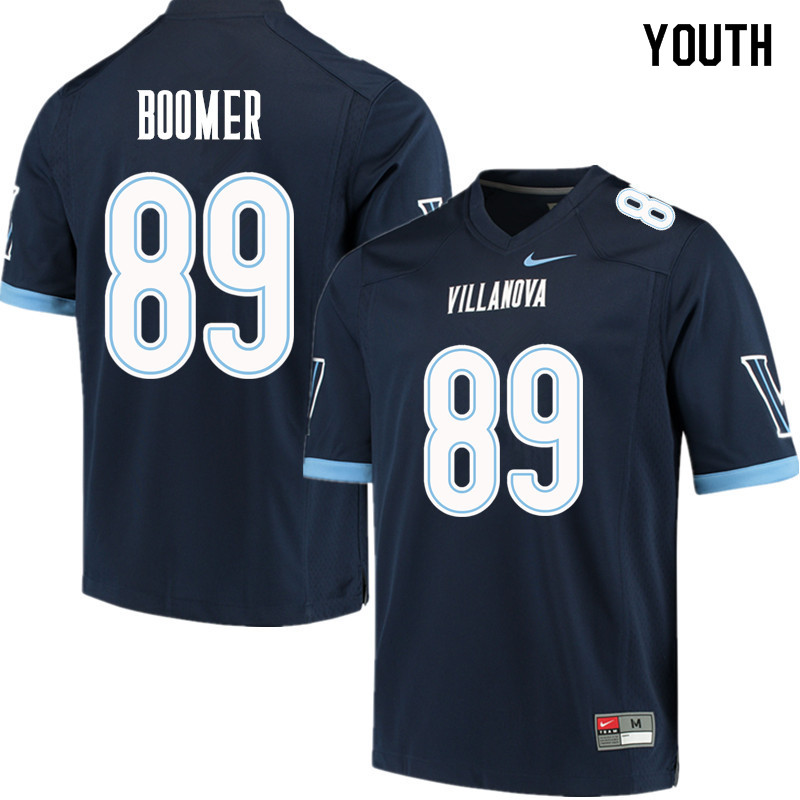 Youth #89 Jack Boomer Villanova Wildcats College Football Jerseys Sale-Navy