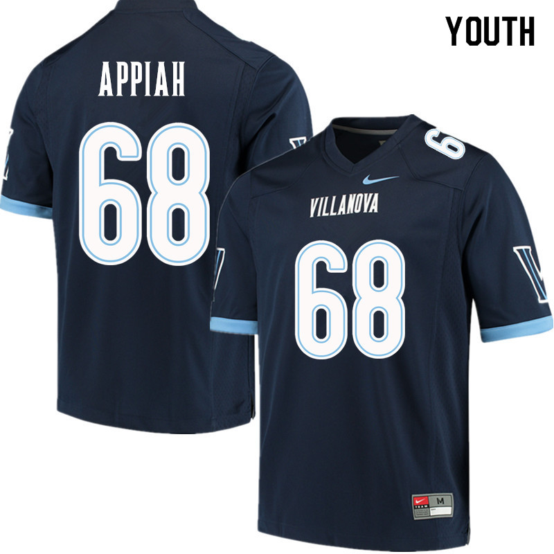 Youth #68 Kofi Appiah Villanova Wildcats College Football Jerseys Sale-Navy