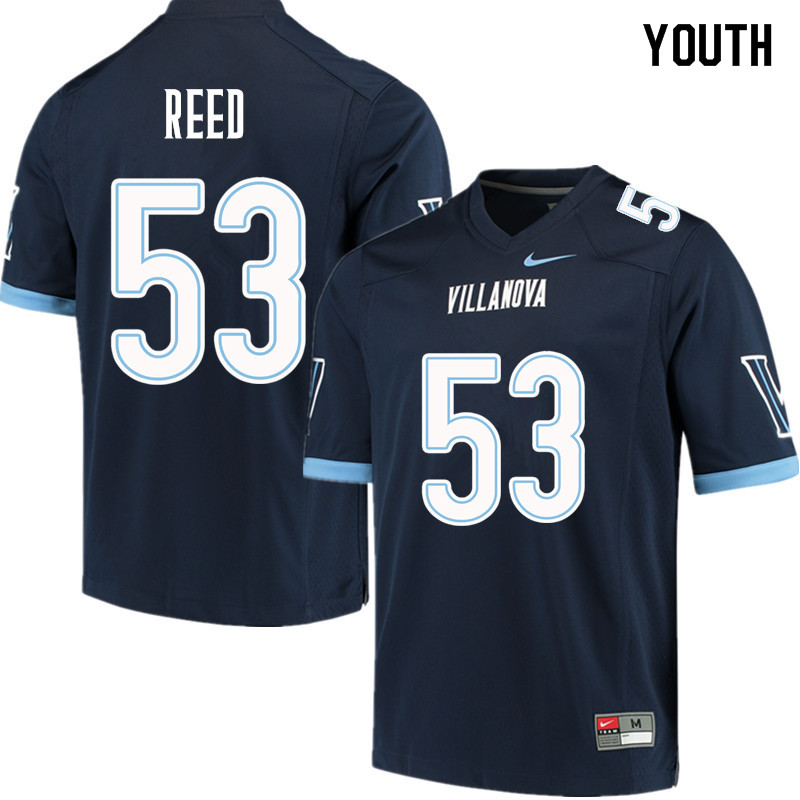 Youth #53 Patrick Reed Villanova Wildcats College Football Jerseys Sale-Navy