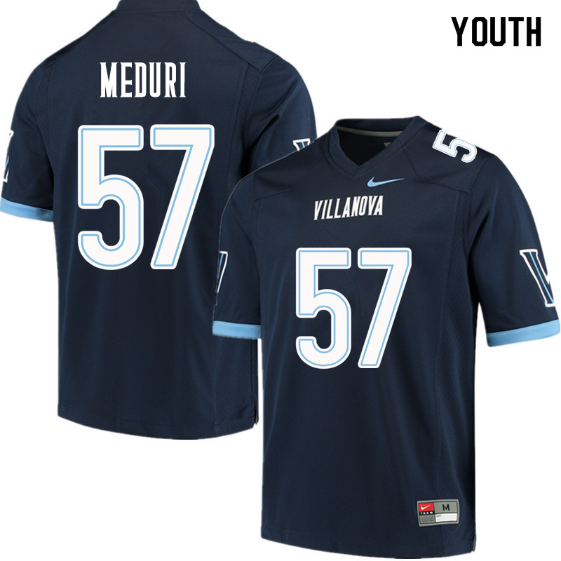 Youth #57 Paul Meduri Villanova Wildcats College Football Jerseys Sale-Navy
