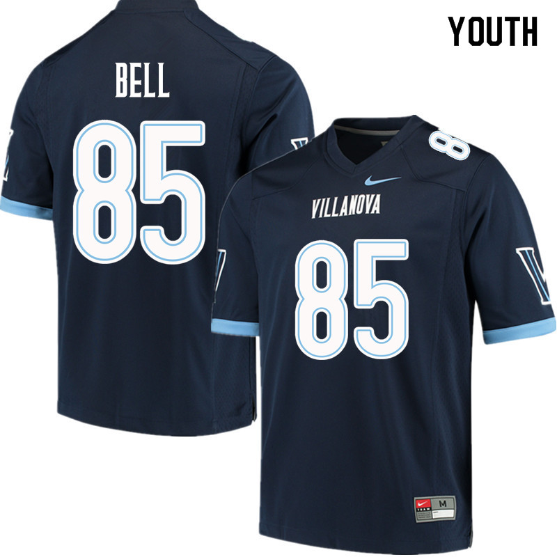 Youth #85 Ryan Bell Villanova Wildcats College Football Jerseys Sale-Navy
