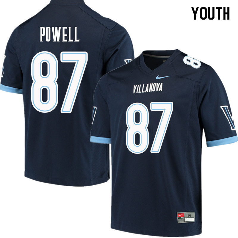 Youth #87 Tahj Powell Villanova Wildcats College Football Jerseys Sale-Navy