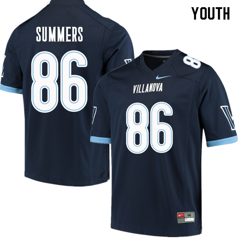Youth #86 Todd Summers Villanova Wildcats College Football Jerseys Sale-Navy